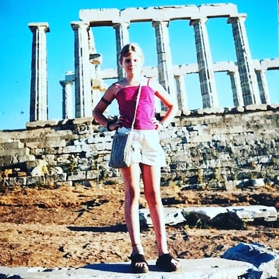 Year 2000AD. I was 10 years old. Fell in love with #greece. Nothing has changed. Still the same person. The same #explorer with my heart on my sleeve. Picture was taken at the #sounion ruins.  Next picture is of my Great Grandfather Stelios Frangos in middle and my grandfather Jim on the right. He was born 100 years before me! He'd be so proud of me if he knew I was here. I wish I knew him. I carry him though my heart. I live through his stories. I've come full circle. He left Greece and I returned...4 generations later.  It's ironic that my life actually started in Greece. My mom conceived me in #Athens. So while she was on a trip here eating yummy Greek food and breathing in the sea, my life was just beginning.