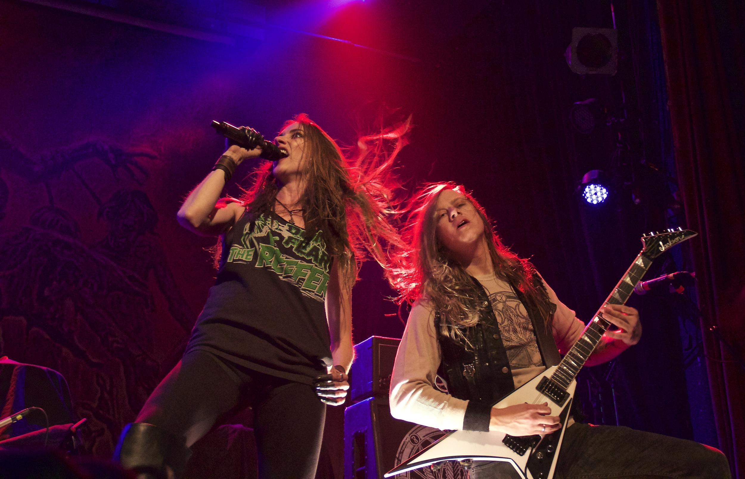 Huntress vocalist Jill Janus photo: David Burke