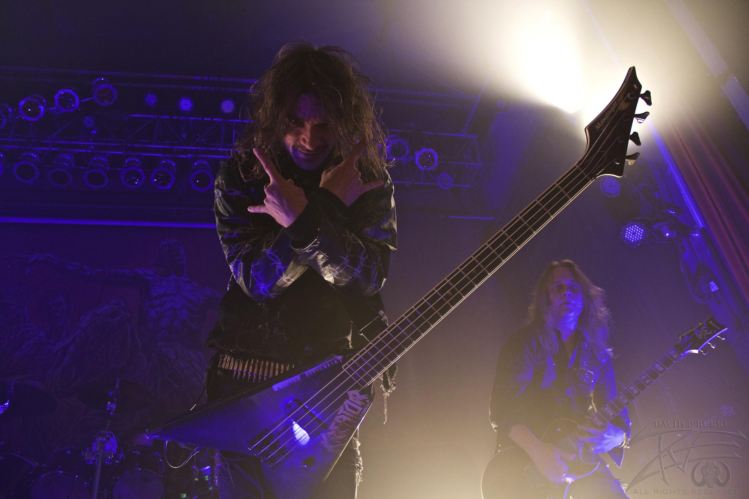 "Kreator bassist Christian ""Speesy"" Giesler    photo: David Burke"