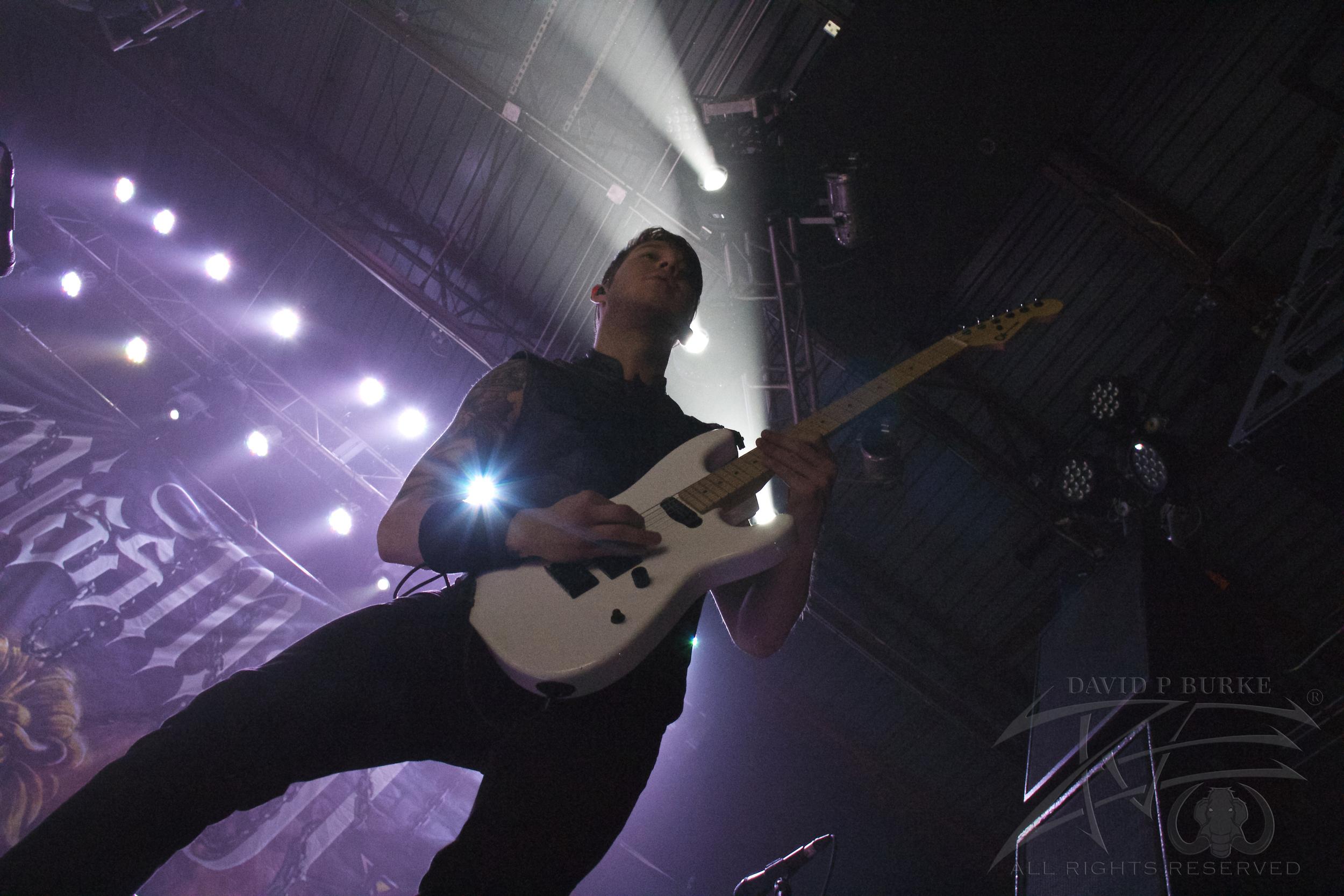 Miss May I guitarist B.J.Stead  photo: David Burke