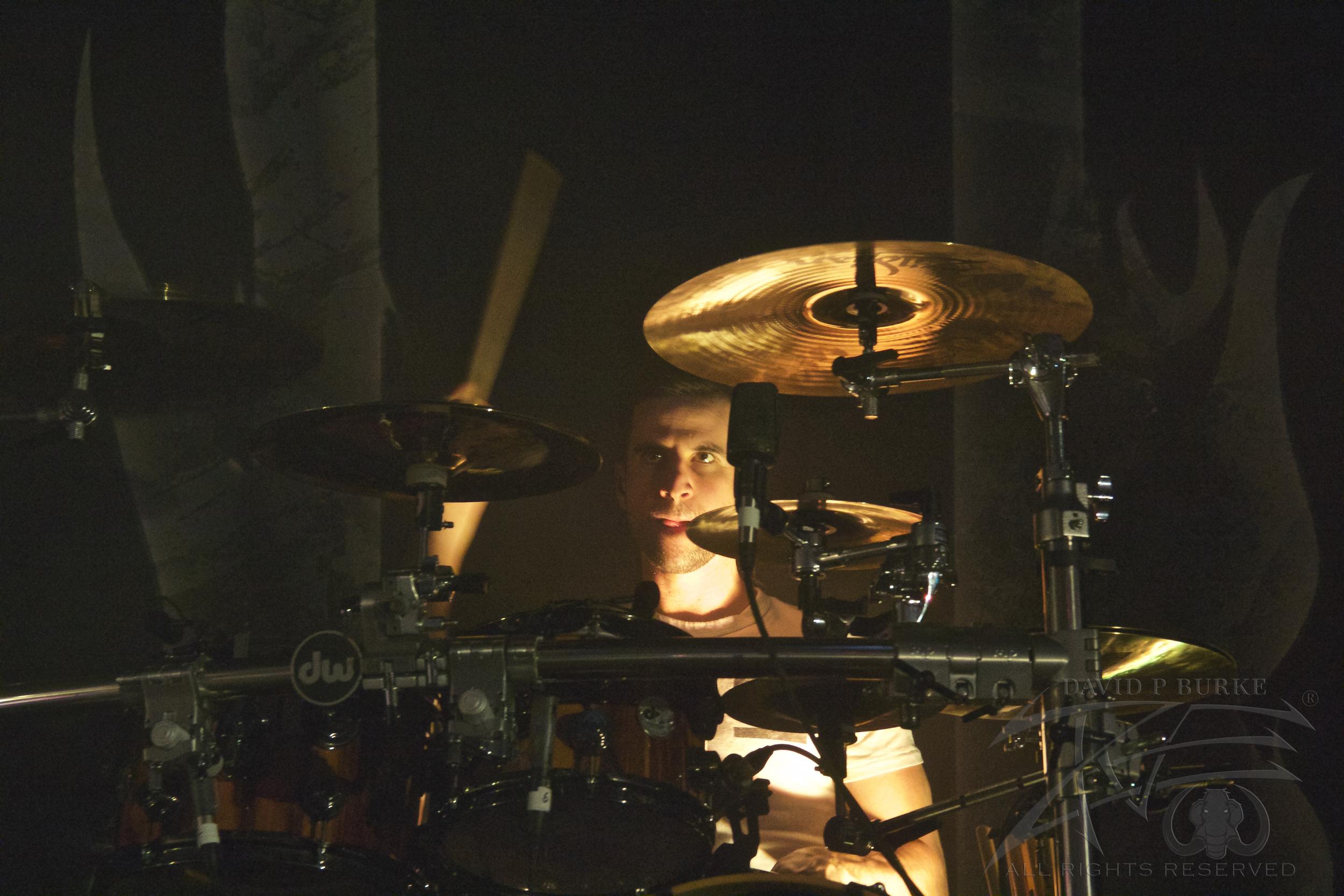August Burns Red drummer Matt Greiner  photo: David Burke