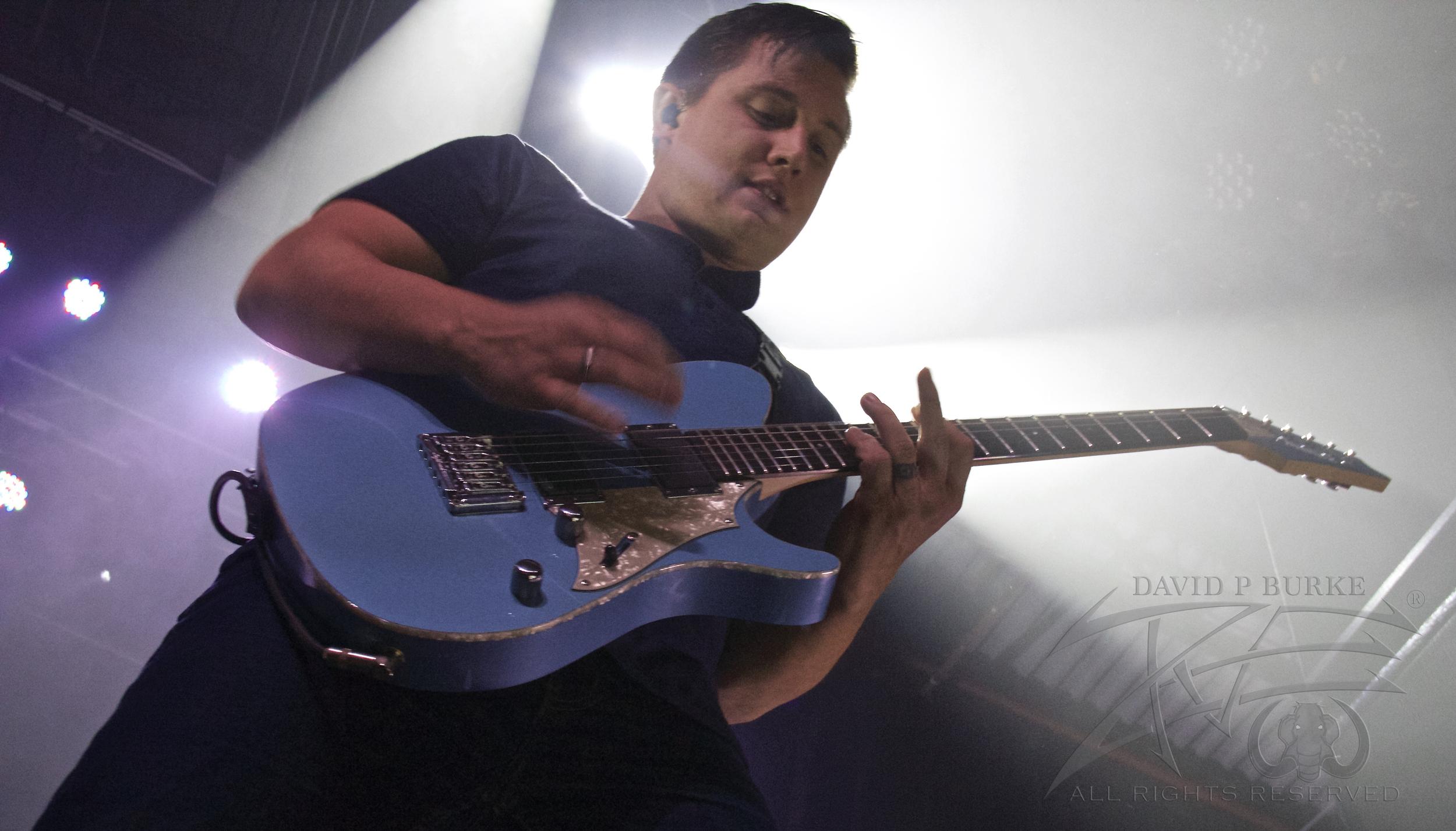 August Burns Red Guitarist Brent Rambler  photo: David Burke