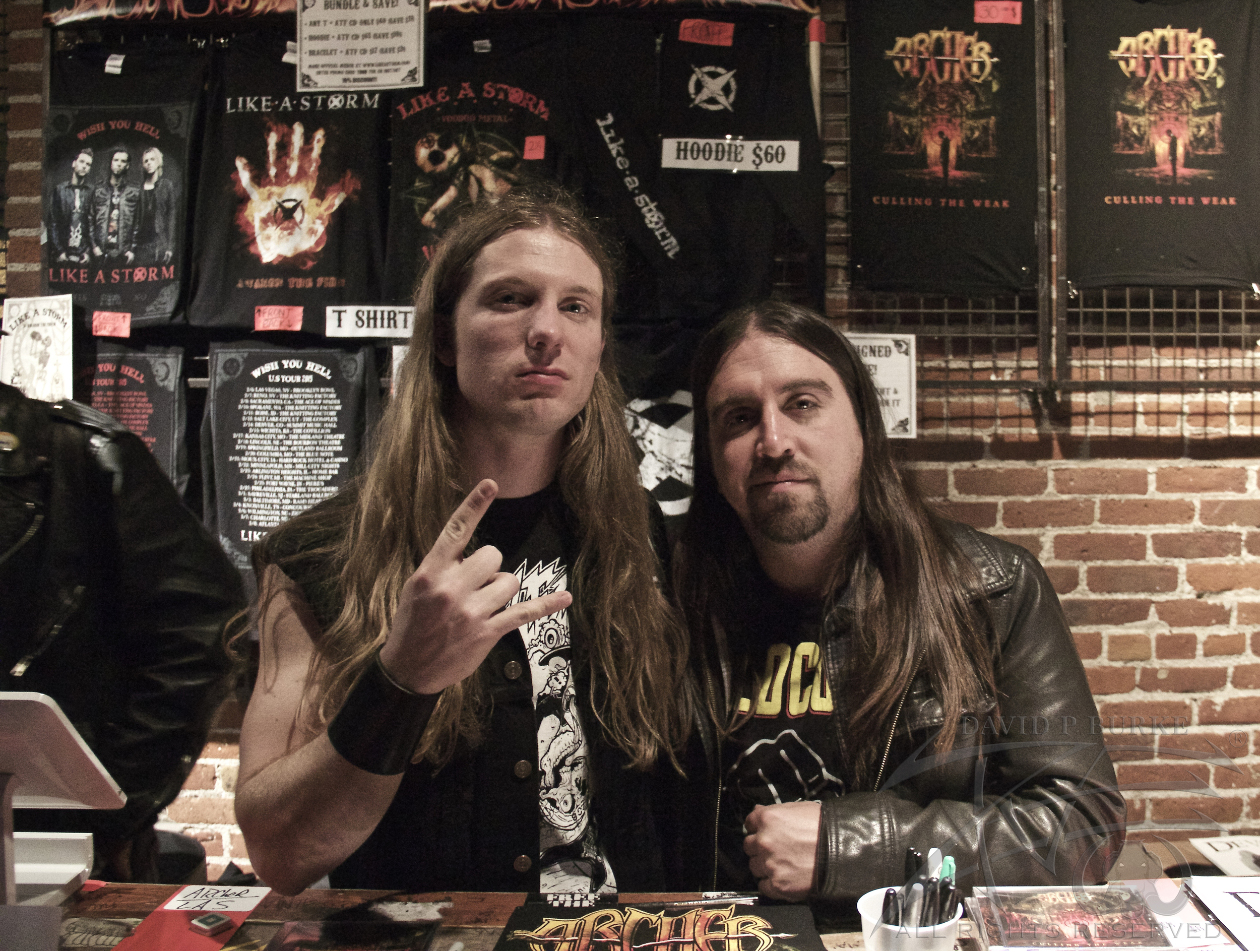 Archer guitarist Dylan Rose and bassist David De Silva  photo: David Burke