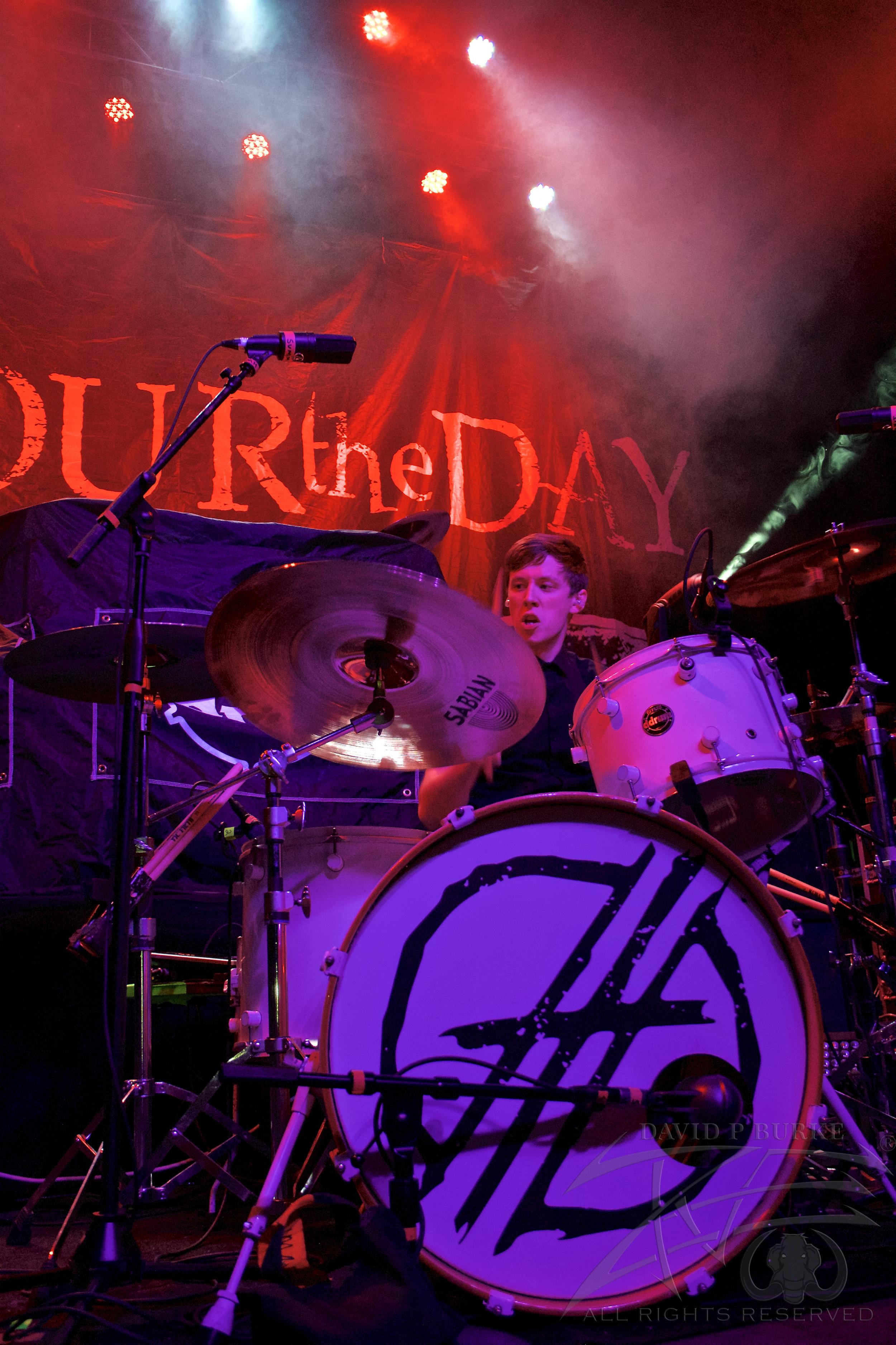Devour the Day drummer Ronnie Farris  photo: David Burke