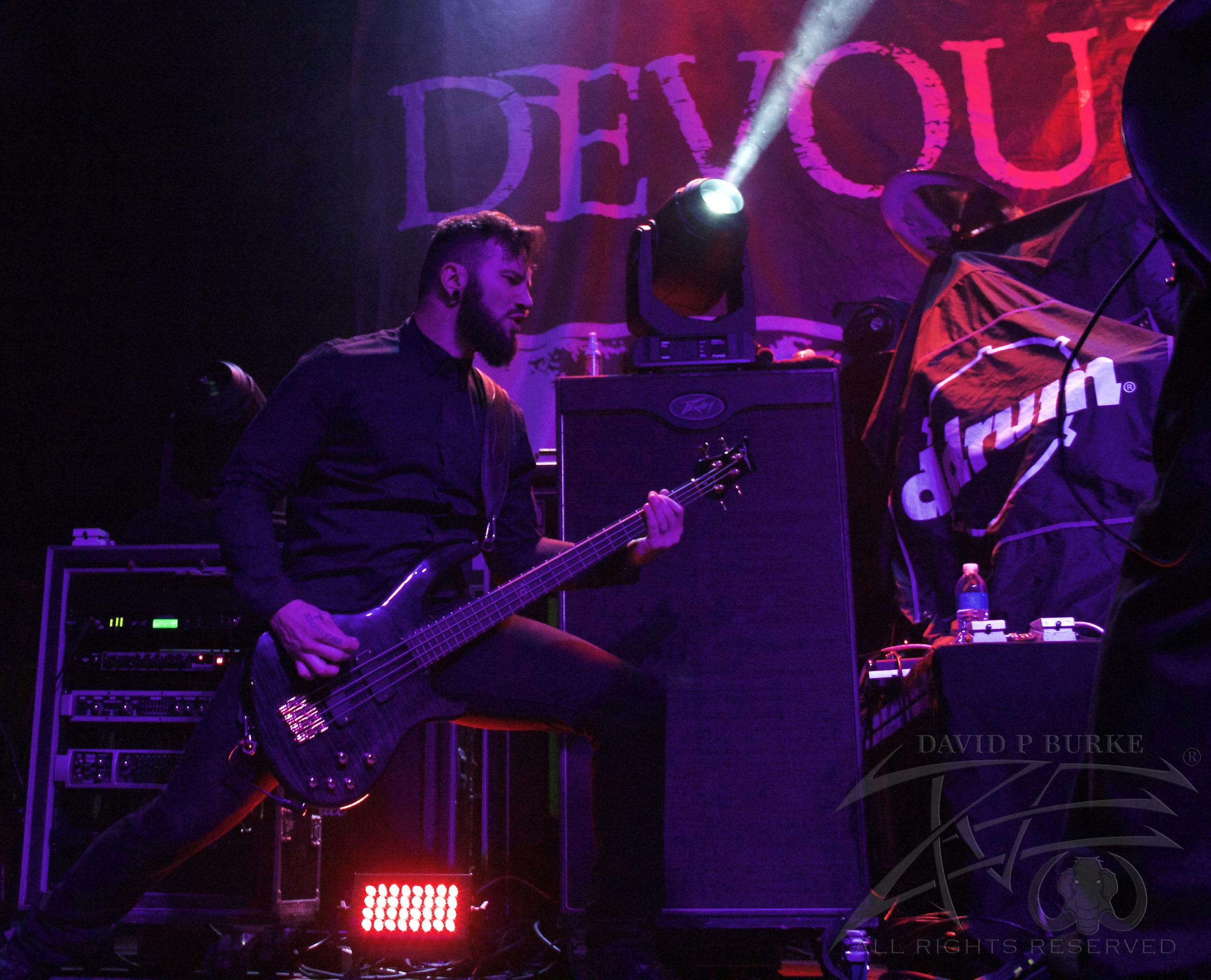 Devour the Day Bassist Joey Walser  photo: David Burke