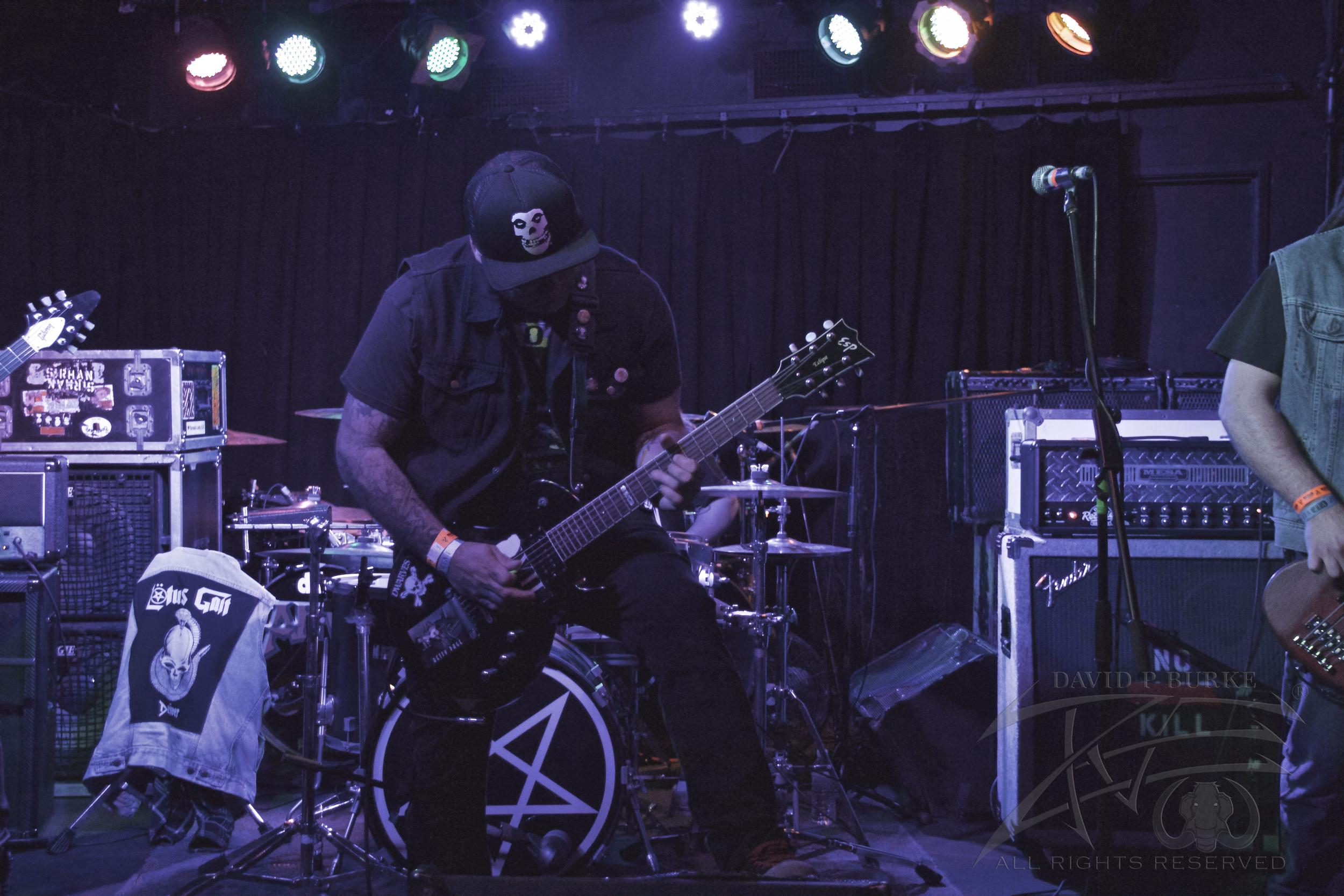 Lead vocalist/guitarist David Bartz  photo: David Burke