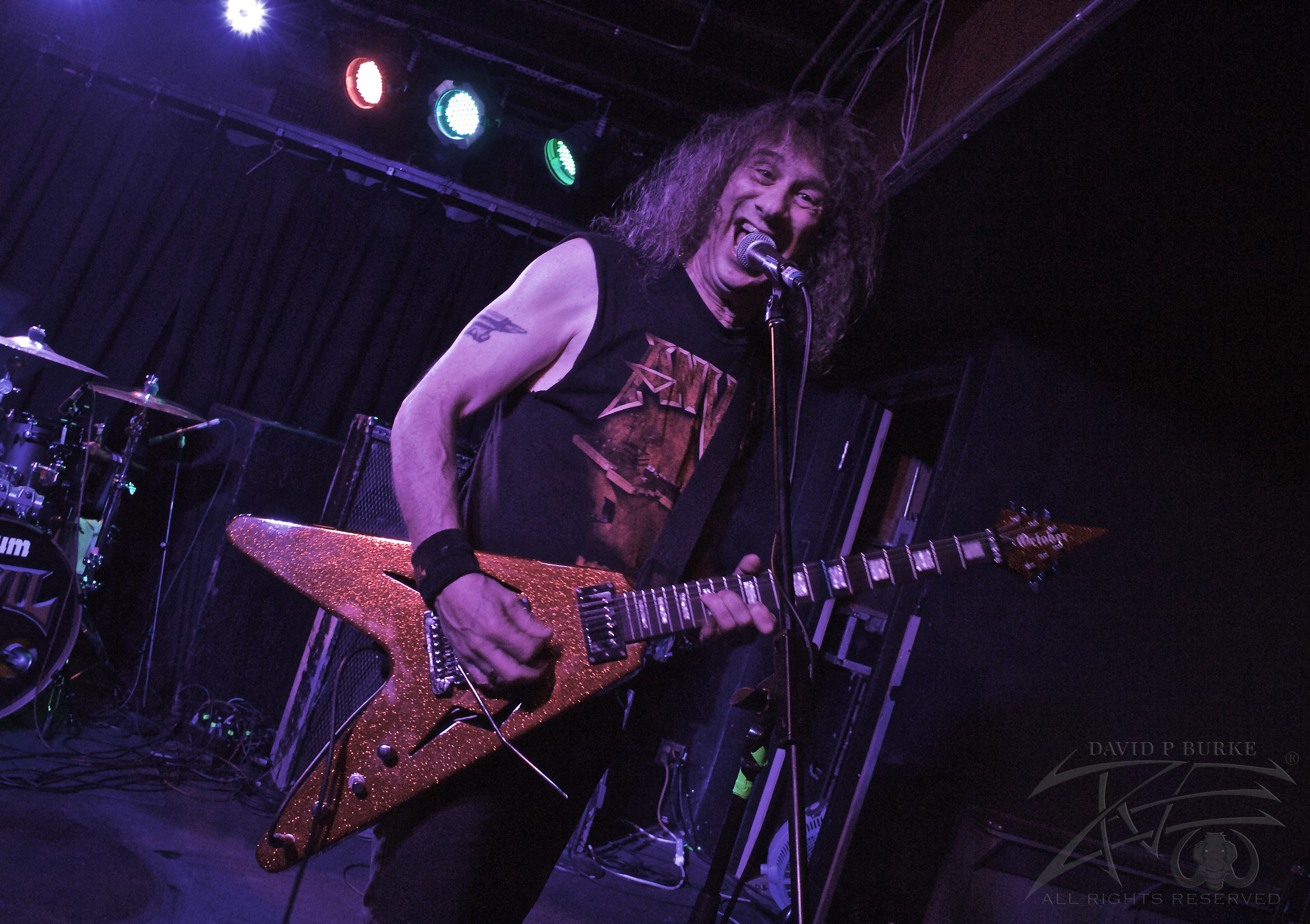 "Anvil vocalist/guitarist Steve ""Lips"" Kudlow  photo: David Burke"