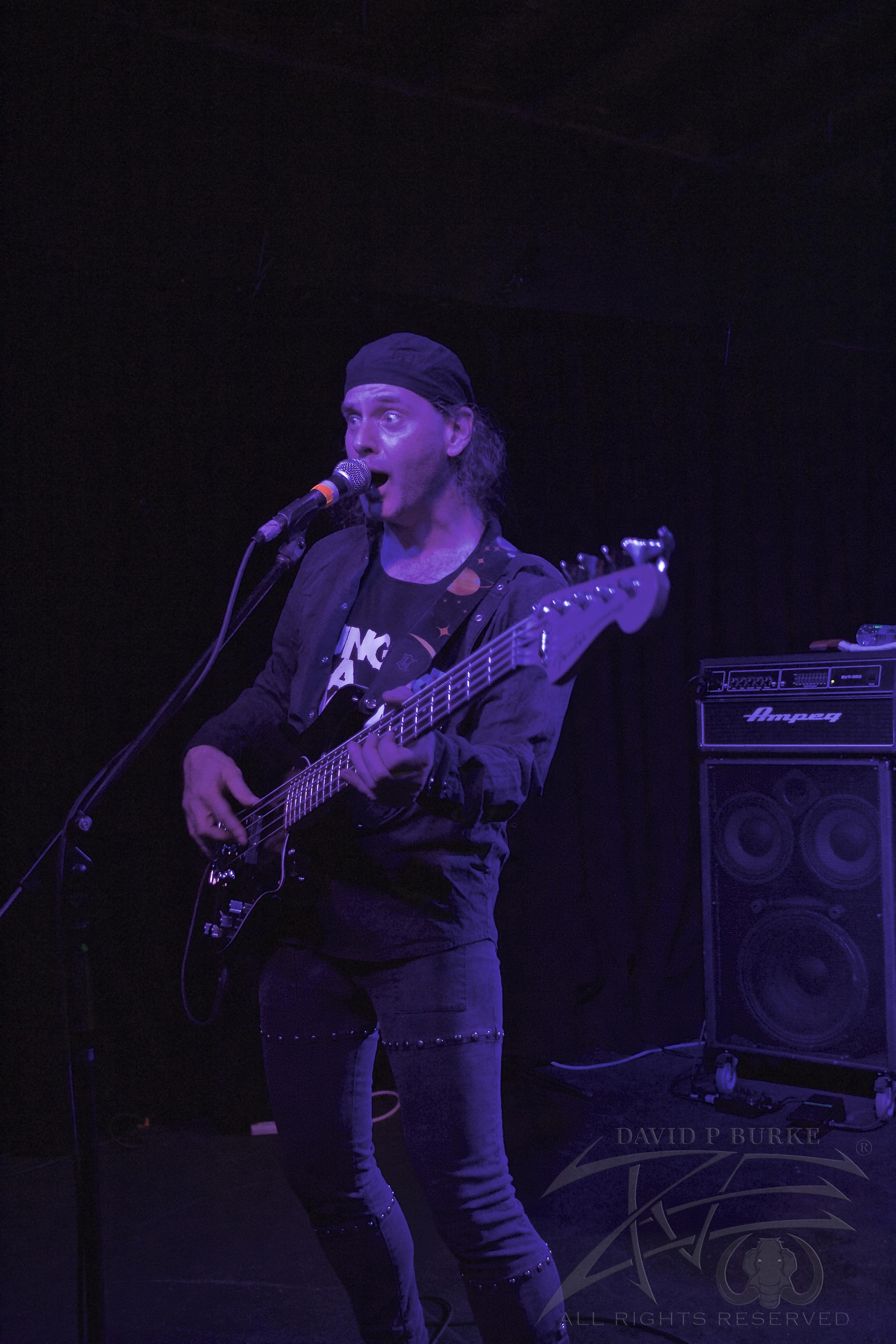 Anvil bassist Chris Robertson   photo: David Burke