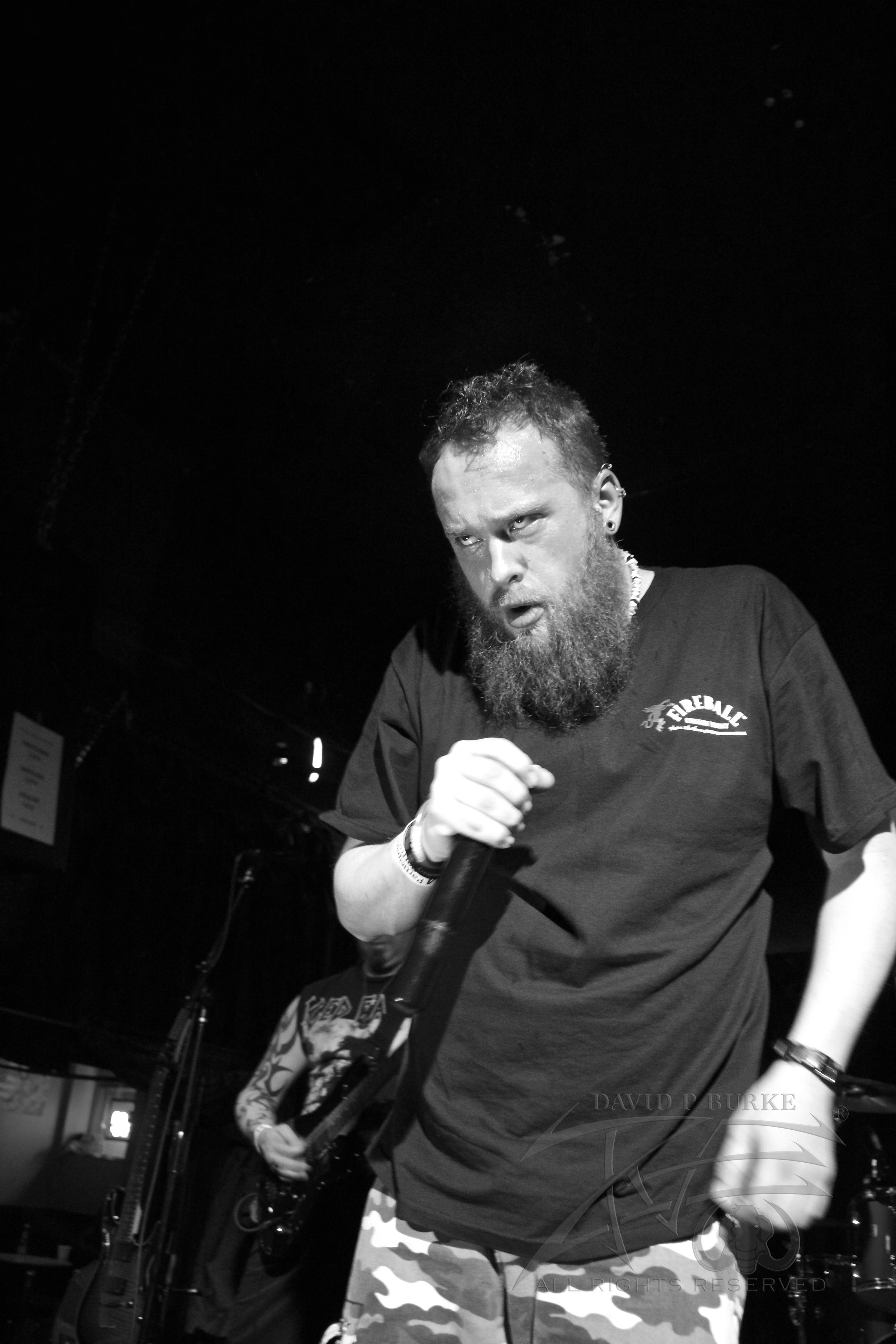 Sanity's Edge vocalist Benjamin Franklin  photo: David Burke