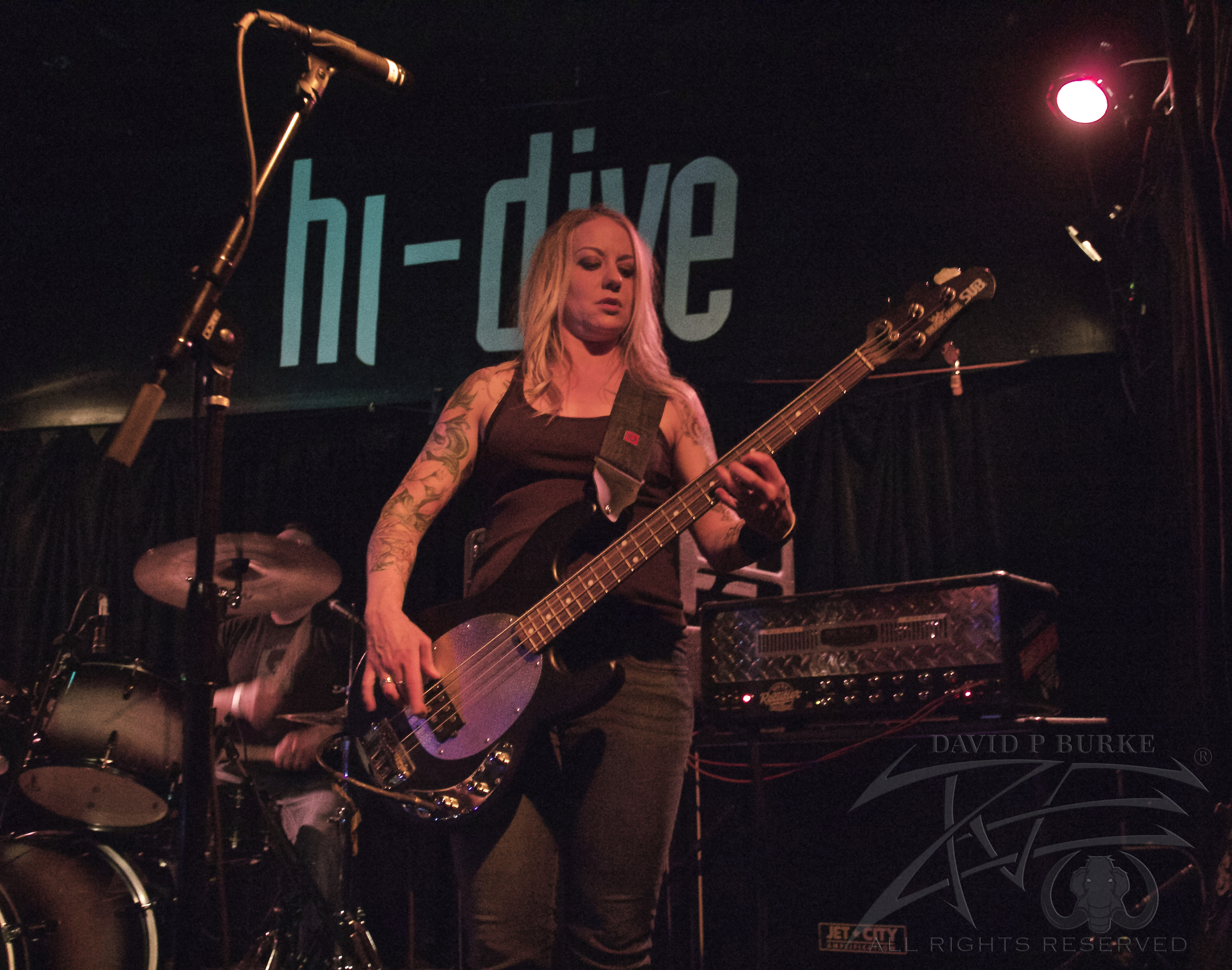 Throttlebomb bassist Jenn Rad  photo: David Burke