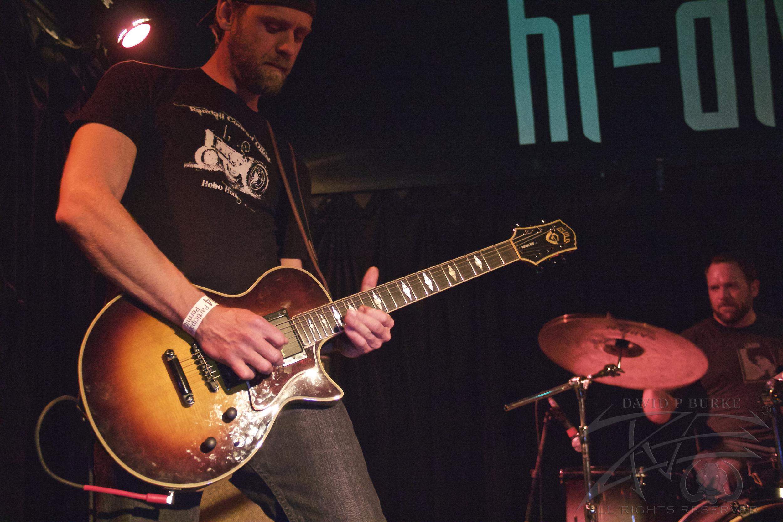 Throttle bomb guitarist Justin Delz  photo: David Burke