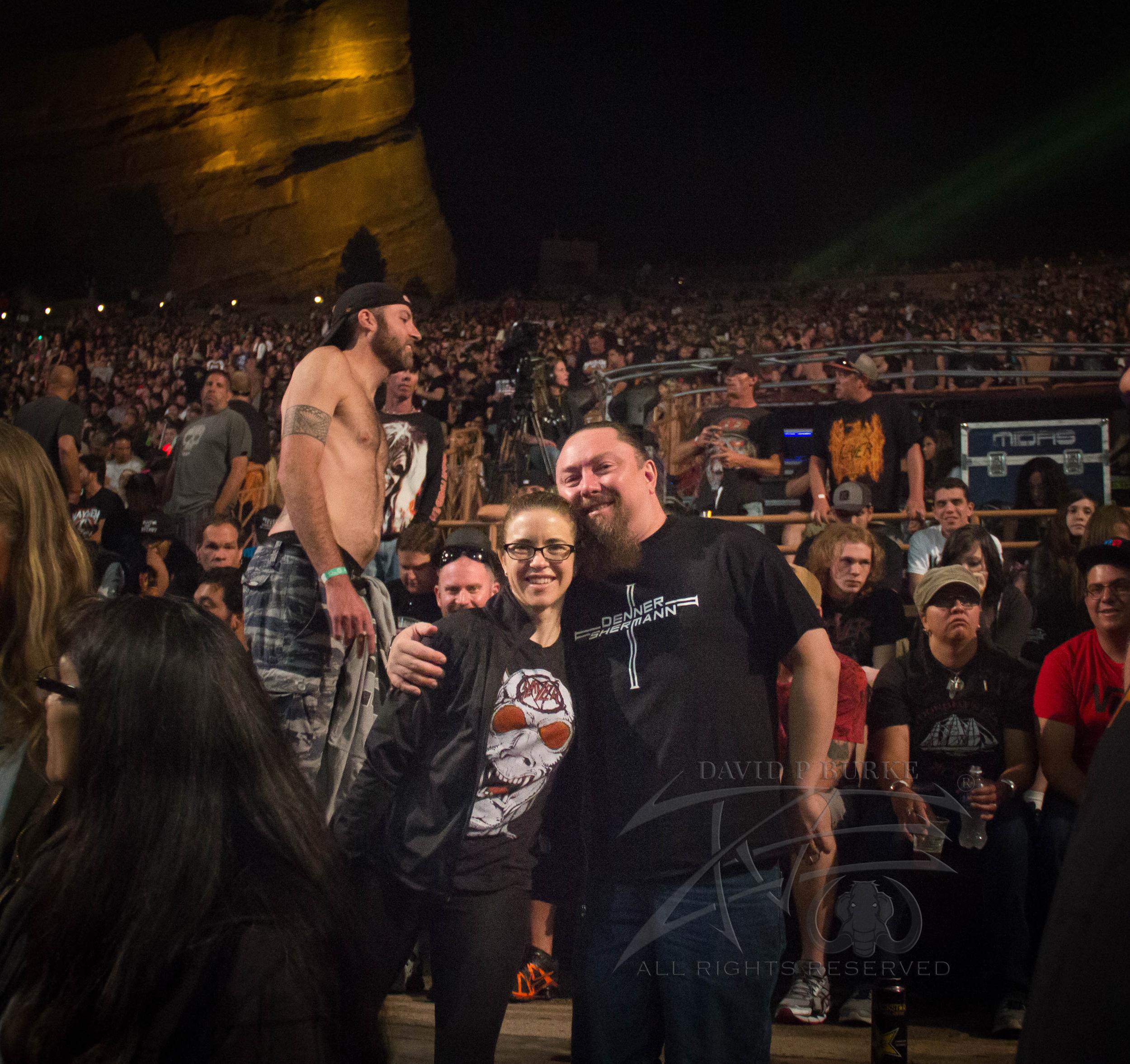 amazing bassist Marc Grabowski and Nicole Grabowski  photo: David Burke
