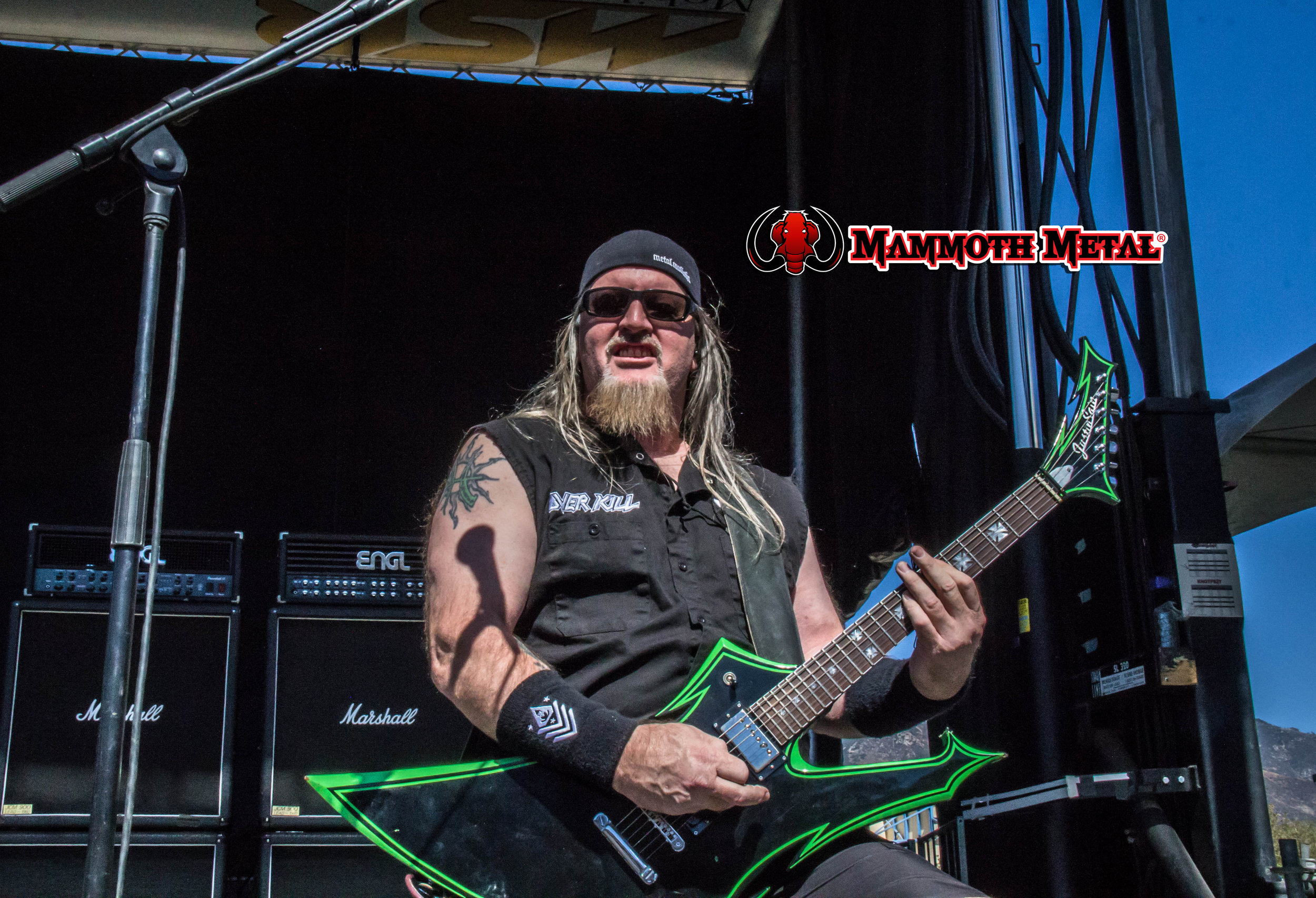 Overkill's  Dave Linsk  photo: David Burke