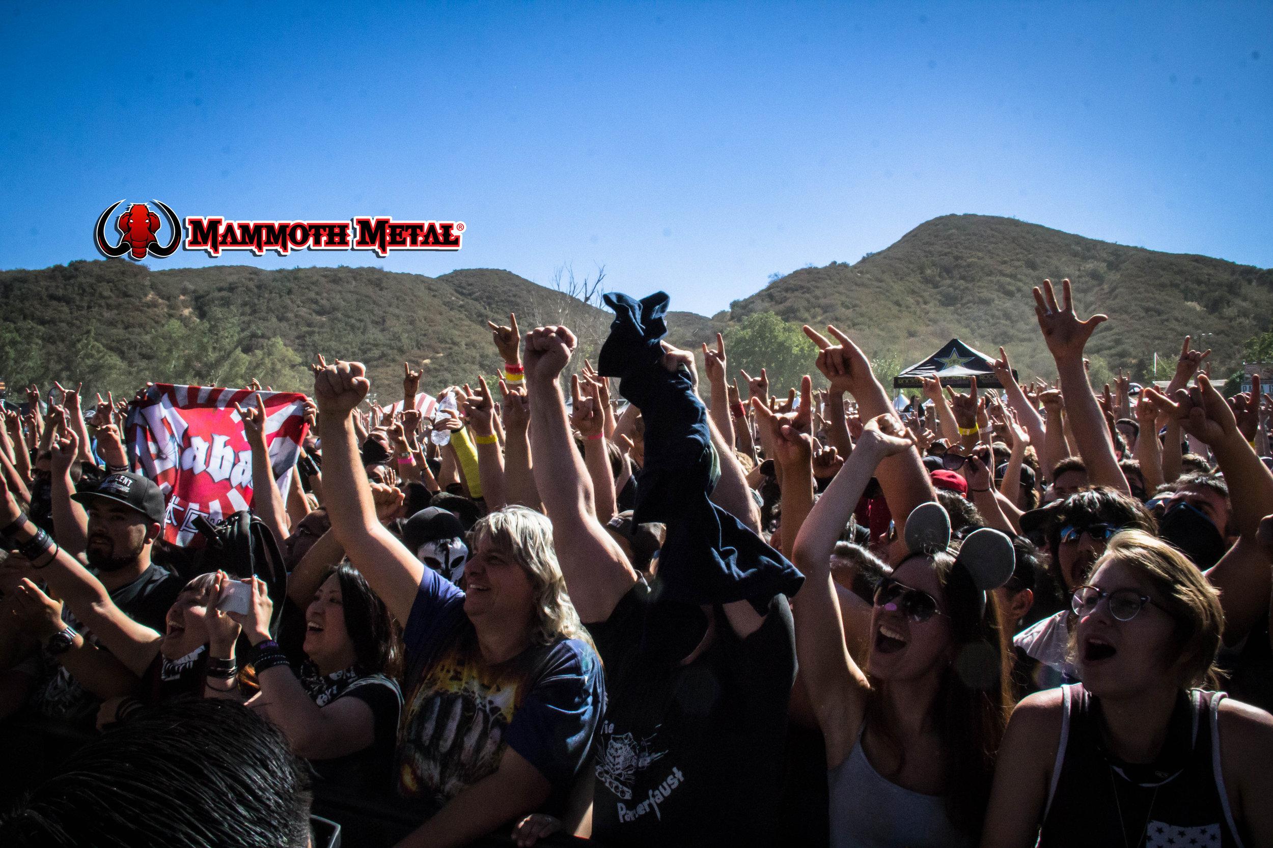 A strong crowd for Sabaton   photo: David Burke