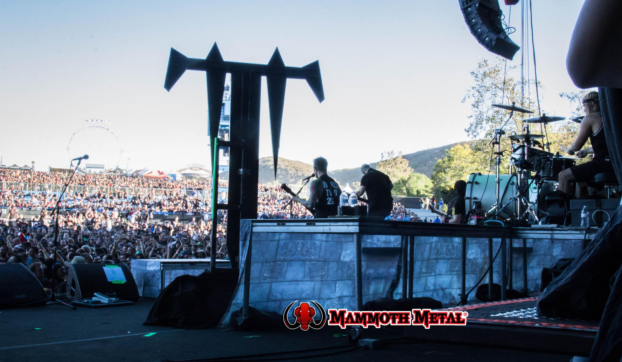 Trivium view of the massive crowd of 40k+  photo: David Burke