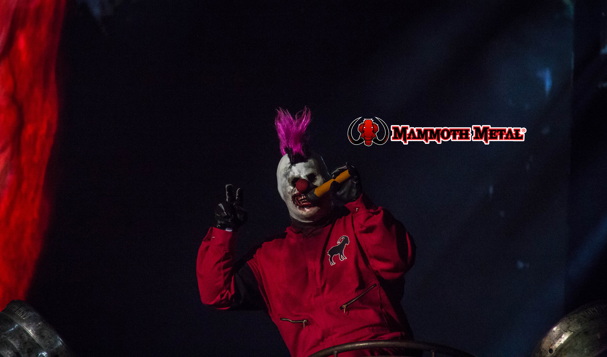 Clown comes in peace  photo: David Burke