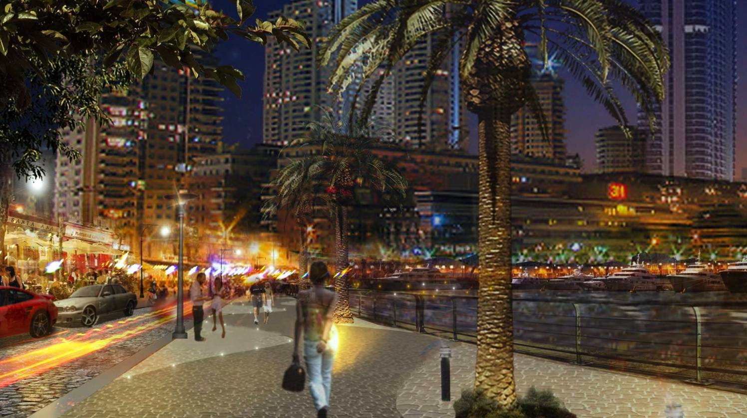 View of the esplanade in the Quay Neighborhood