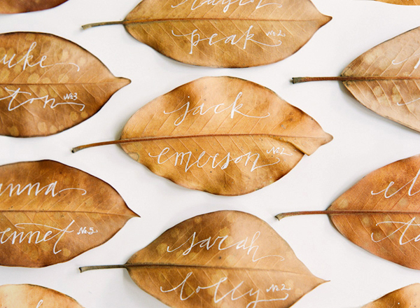 Photo: Oncewed These wedding escort cards are becoming quite popular this season