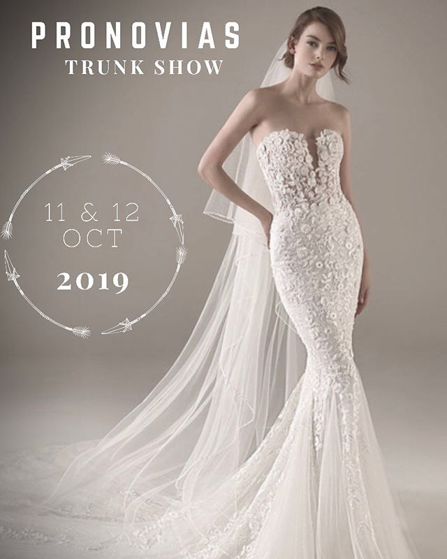 We are beyond excited to announce another #pronovias trunk show!  Let's go ladies!!! Limited availability.  Book your appointment today! . . . . Rosi's Bridal Studio 9 Sheridan Avenue HoHoKus, NJ 07423 201.857.4958