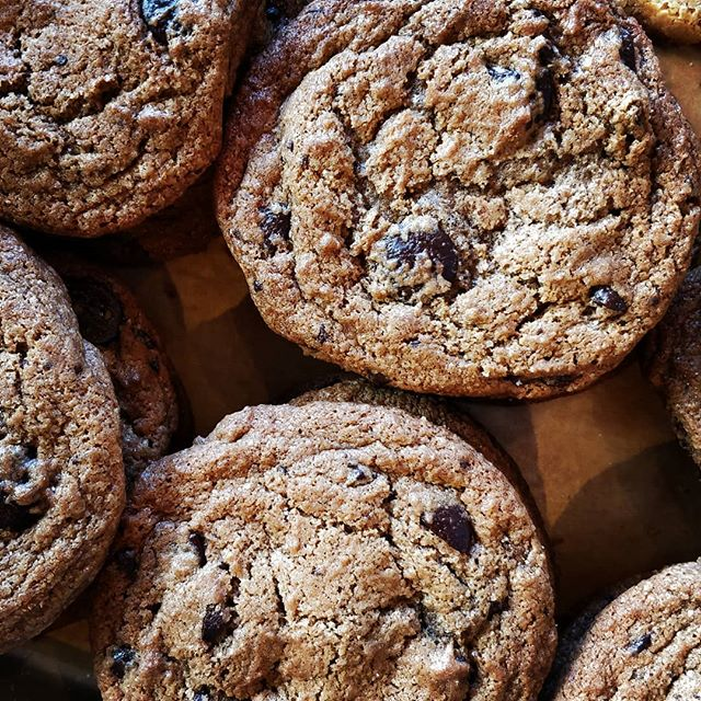 We like to think simplicity is quite beautiful!  Chocolate Chip Cookies made from 65% dark chocolate and @canadianseasalt sea salt ❤️