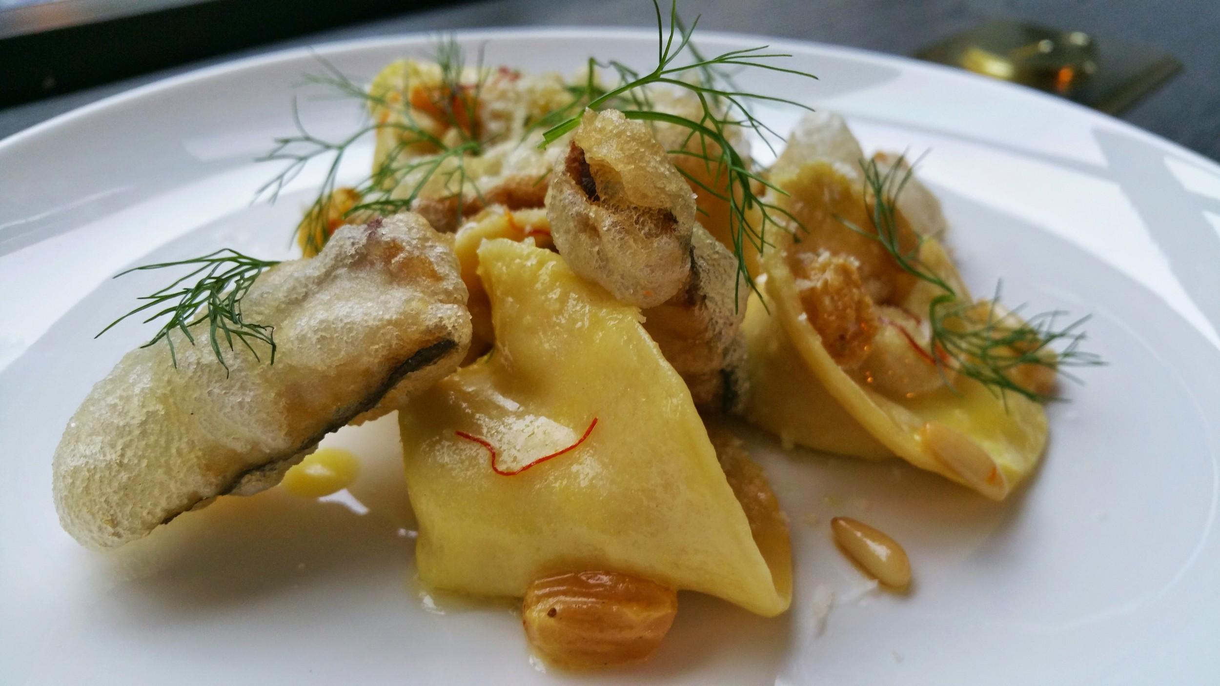 FENNEL TORTELLI  sicilian anchovy, pine nuts, golden raisins, saffron