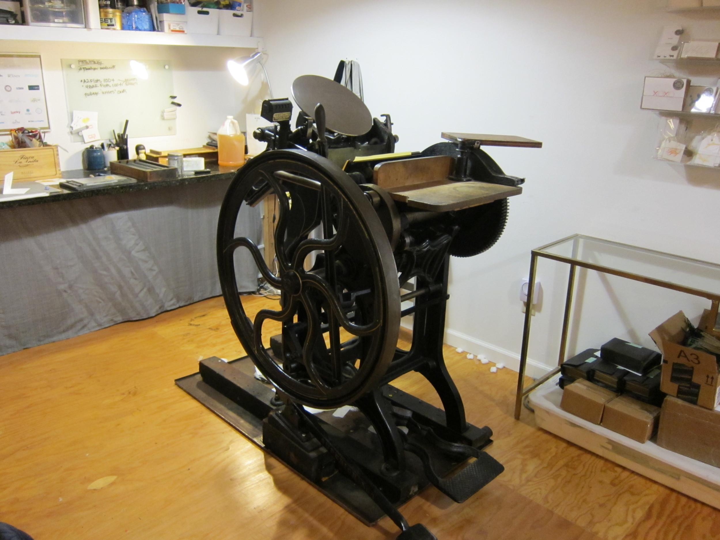 Peach the printing press!