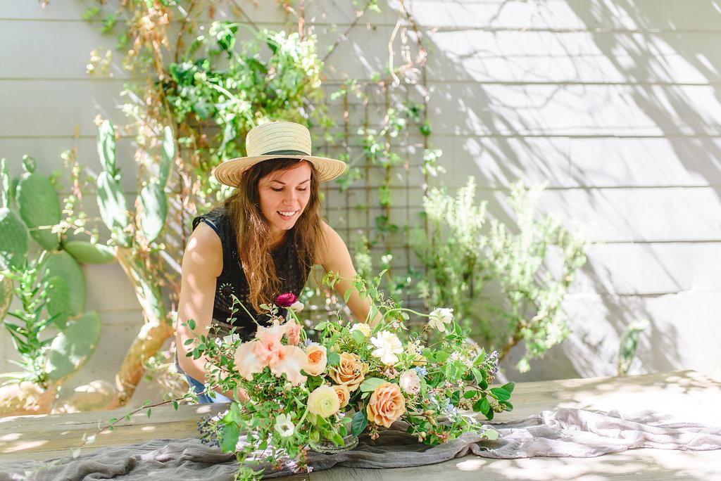 Amanda Vidmar floral centerpiece