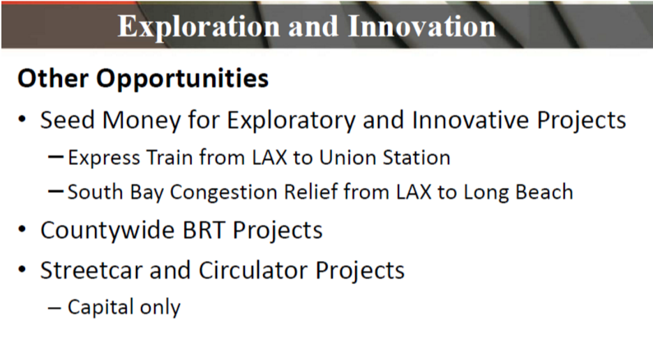 "It remains unclear how ""streetcar and circulator projects"" qualify as innovation."