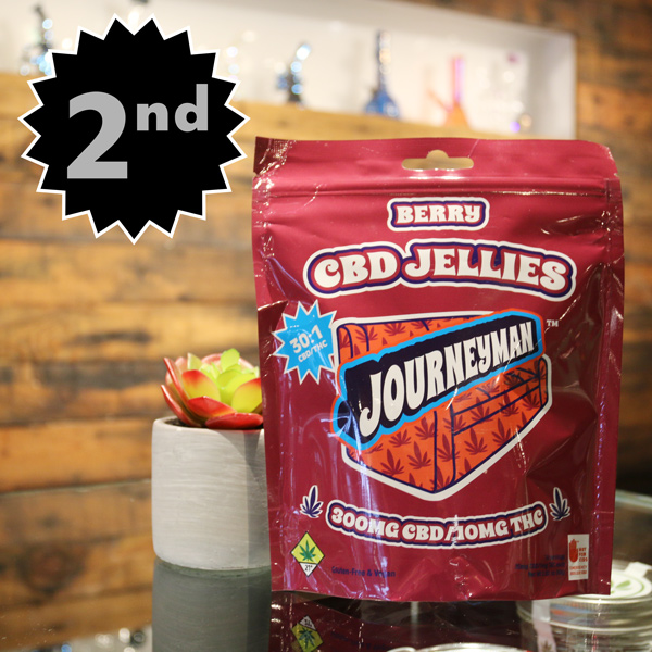 Journeyman Berry CBD Jellies - Full body benefits without the head trip, in a refreshingly fruity and sweet candy-like jelly. These gems also happen to be gluten-free and vegan!
