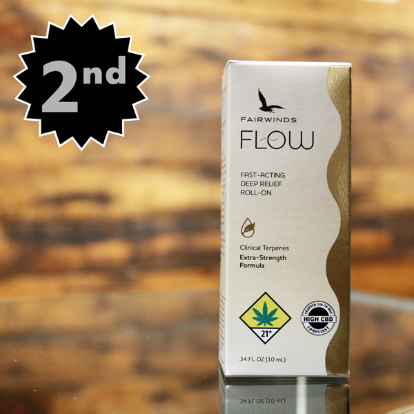 Fairwinds Flow Roll-On - Looking to take the edge of muscle pain or chronic pain? Fairwinds now makes their famous Flow formula in a convenient roll on applicator. Fairwinds is the first name in cannabis-based wellness products, and we're proud to be carrying their full line here at The Novel Tree.