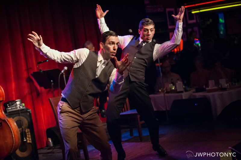 """Tony Yazbeck and Clyde Alves onstage at Birdland Jazz Club presenting """"The Floor Above Me."""" June 28th, 2015"""