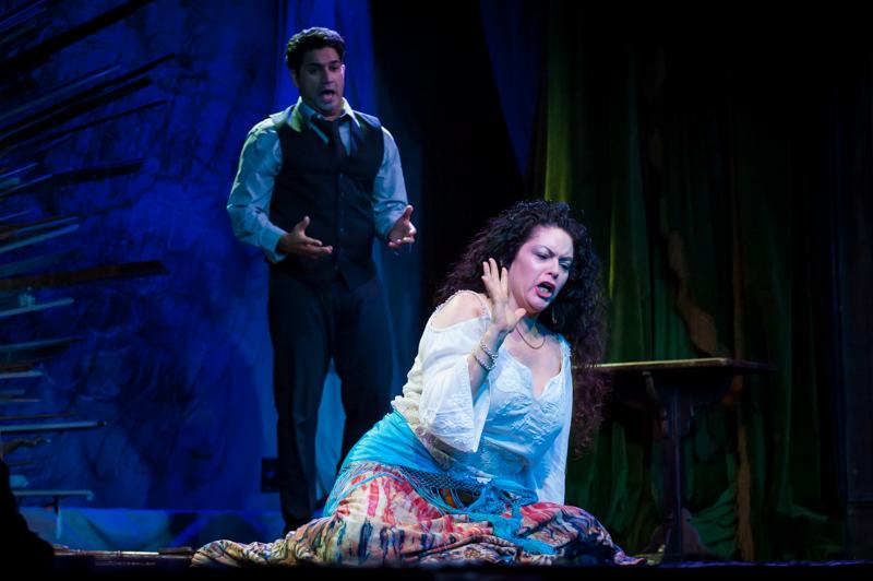 Kristin Cavez and Alok Kumar in Venture Opera's CARMEN.