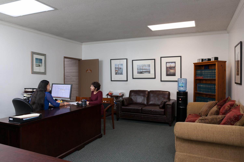 Samara Law office's reception & waiting area