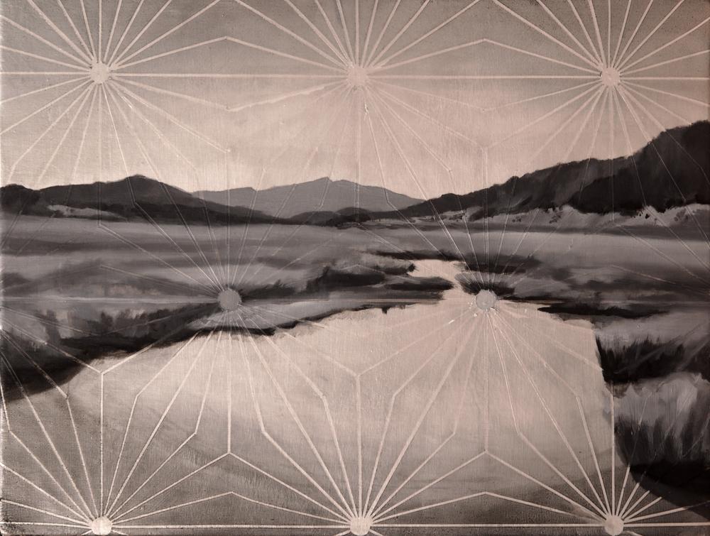 Matthew Mullins, Caldera, Oil on Canvas
