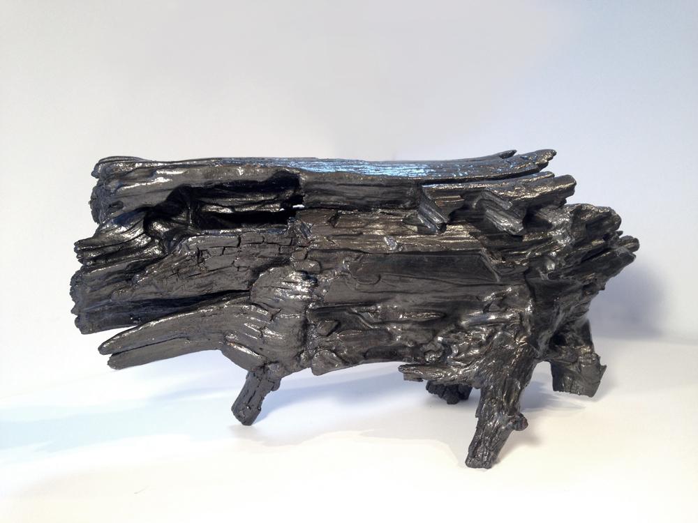 Matthew Mullins, Tripod, Graphite on Found Wood