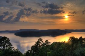 Table Rock Lake surrounds Holiday Island
