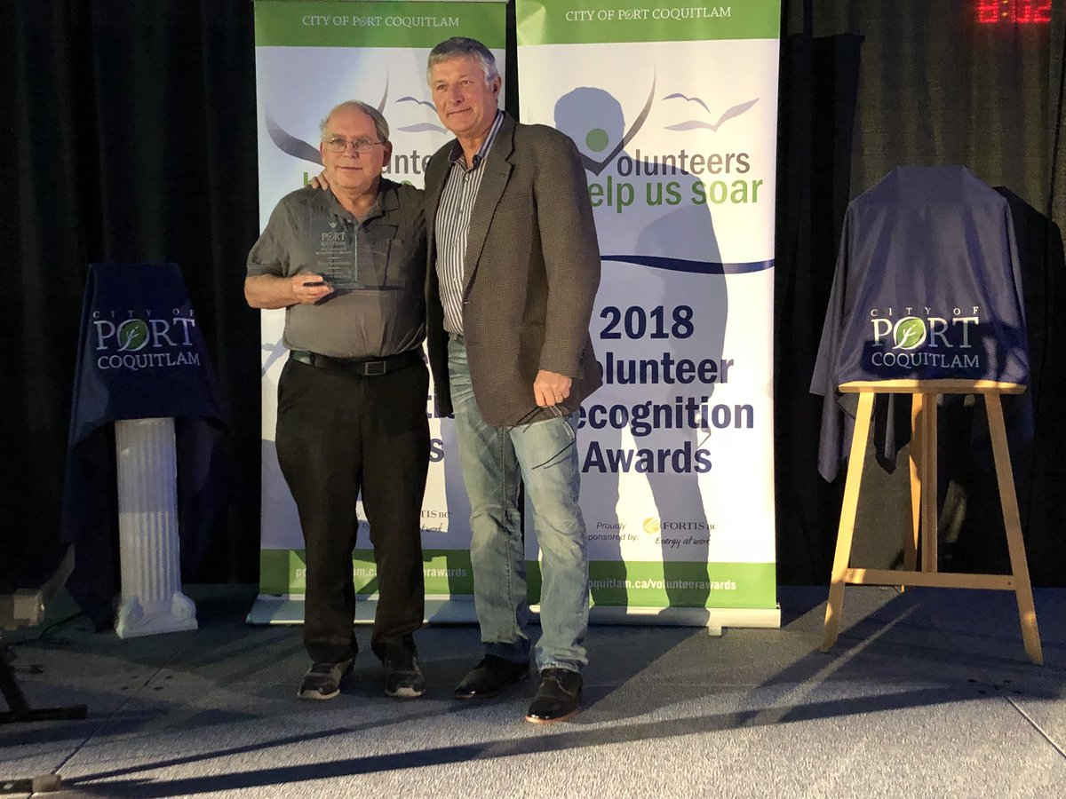 Congratulations to Terry - April 20th 2018Terry winning the Port Coquitlam Environmental Award on April 20th. Thank you Terry for all your hard work!