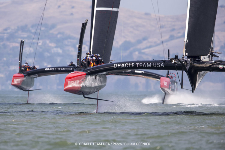 THe modern ac72 racing sailboat, with itsrigid wing sail and hydrofoils, would make a horrible boat for 99.9% of the world       image: cupinfo.com