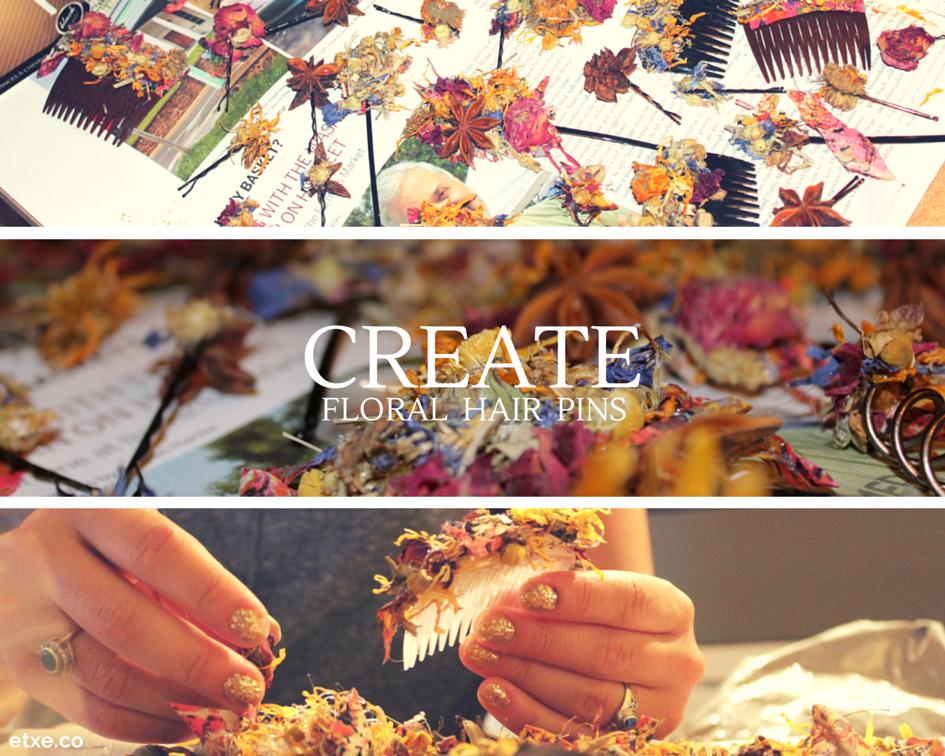 floral hair pins - etxe - create