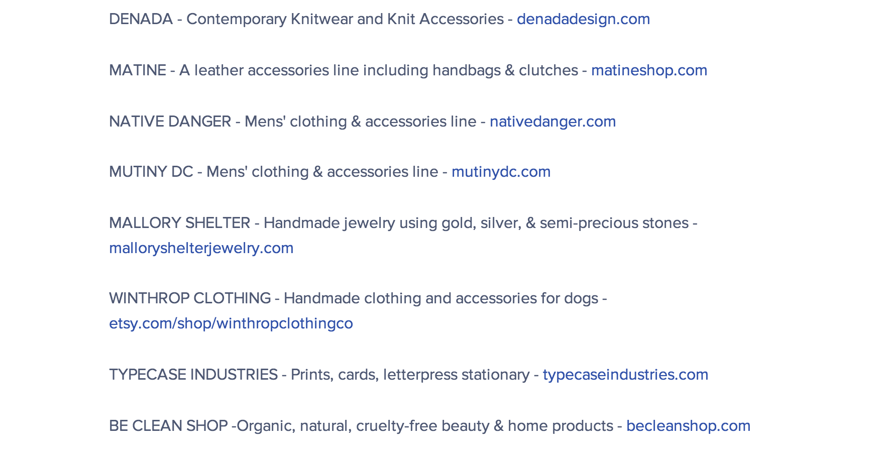 Clickimage for full list of vendors showing at Parcel.