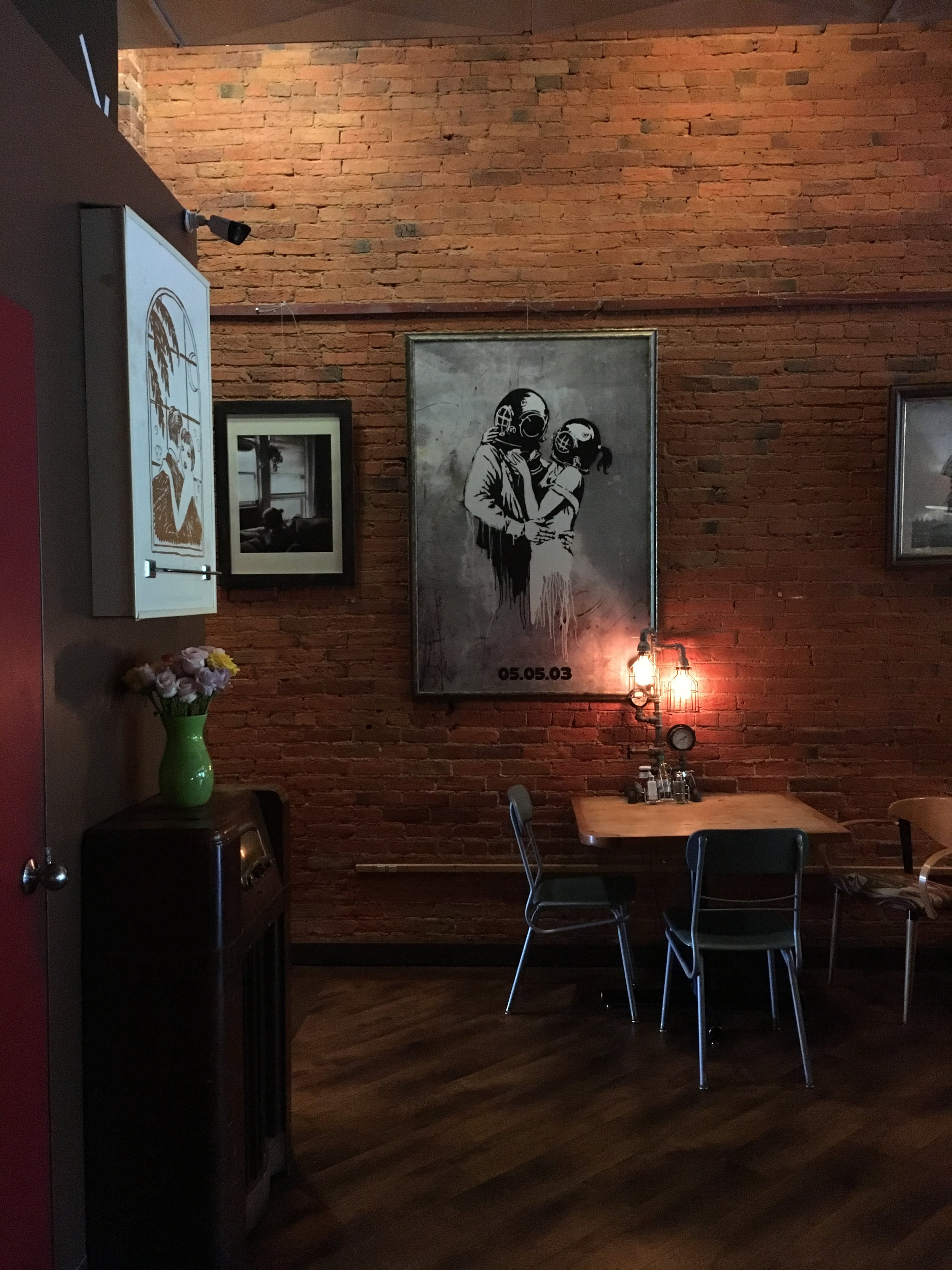 One of the many rooms inside Nucleus Cafe