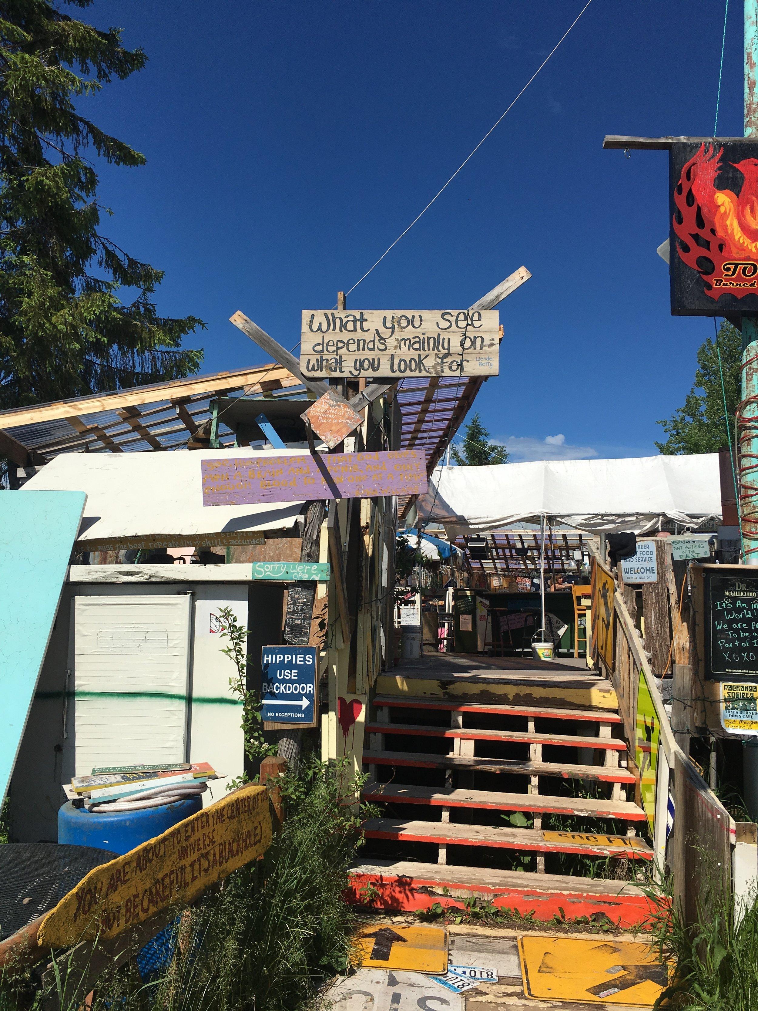 Tom's Burned Down Cafe on Madeline Island