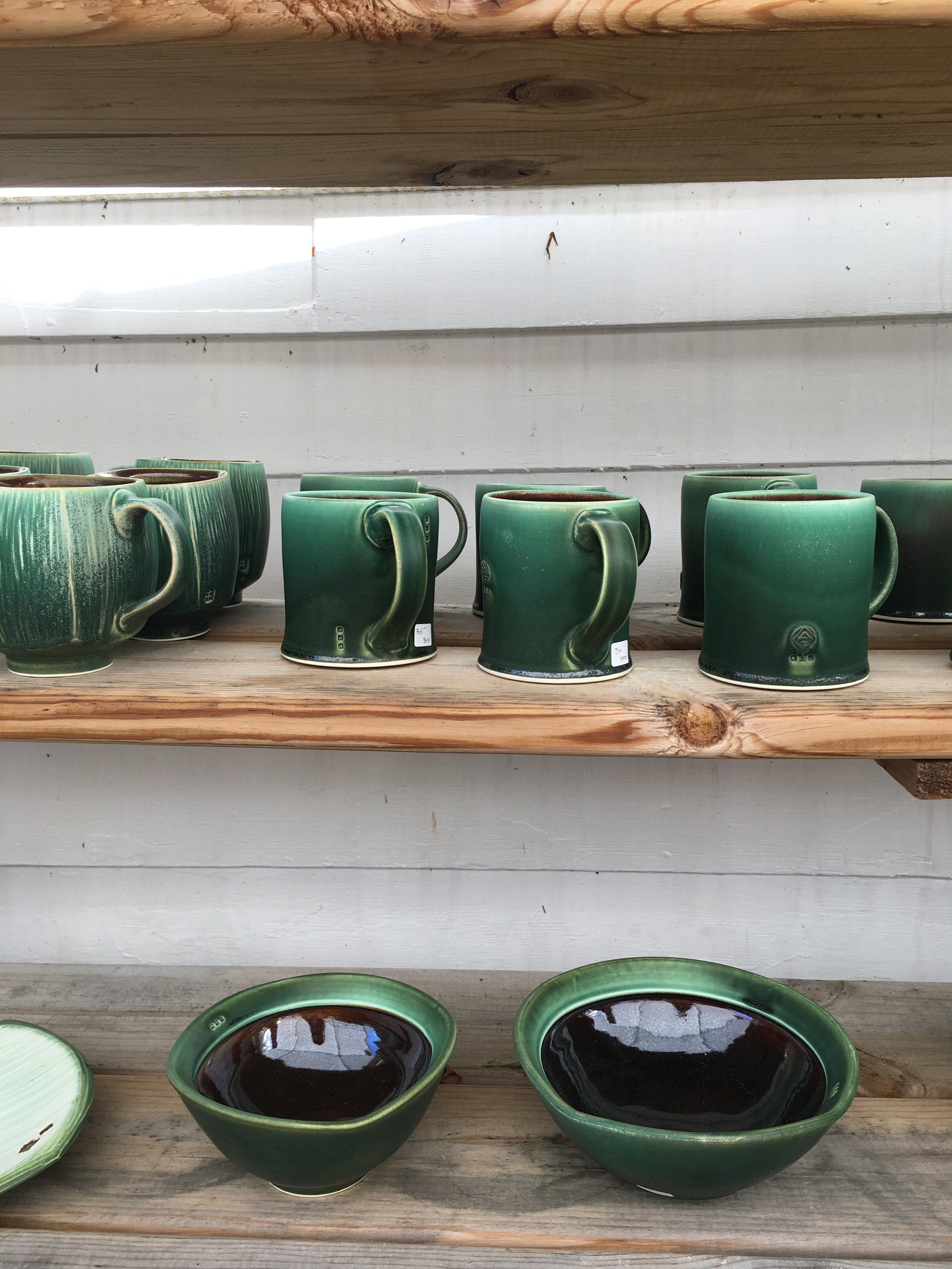 Gorgeous ceramics at Bell Street Gallery on Madeline Island, Wisconsin
