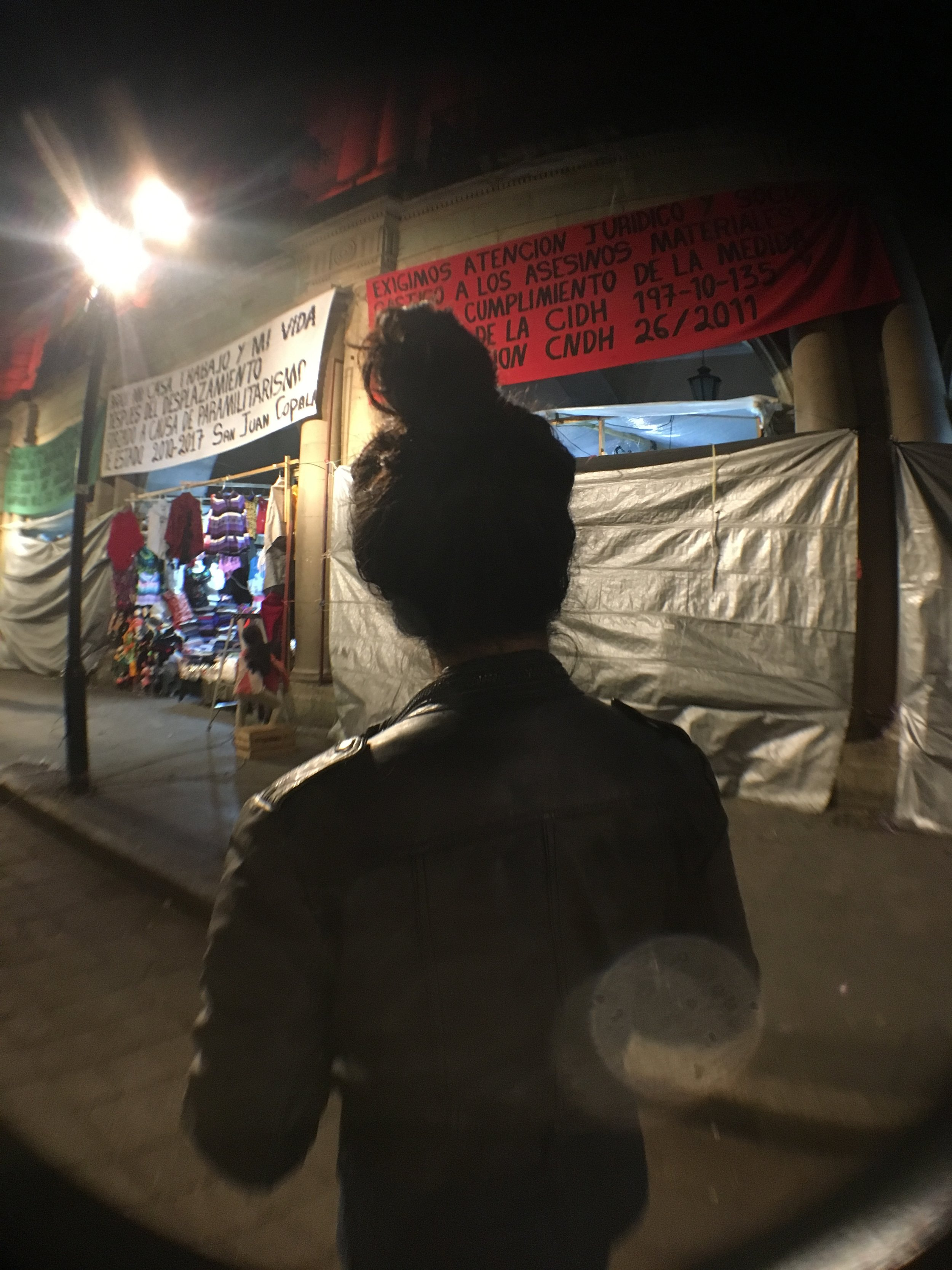 In the Zócalo. Protestors took over the square. Photo by  @samgraft