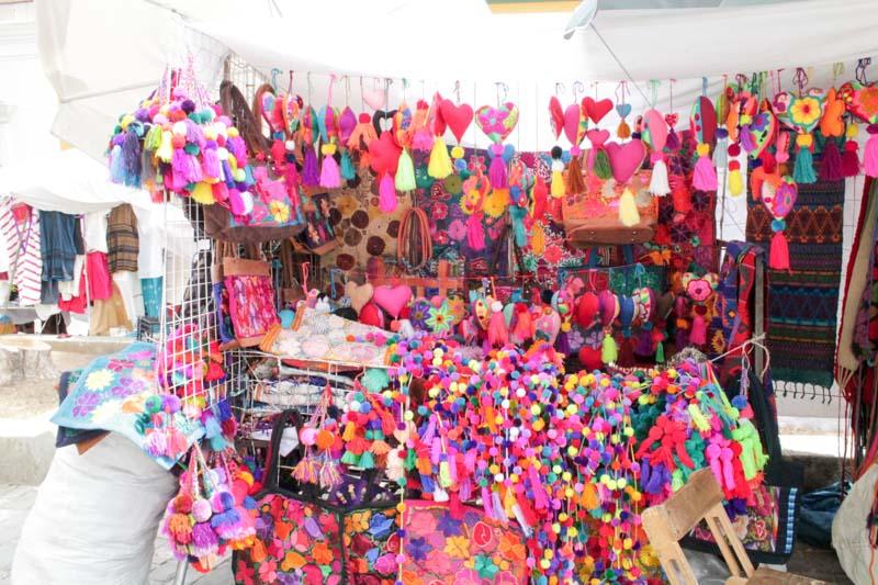 Markets in the Plaza in Oaxaca, Mexico