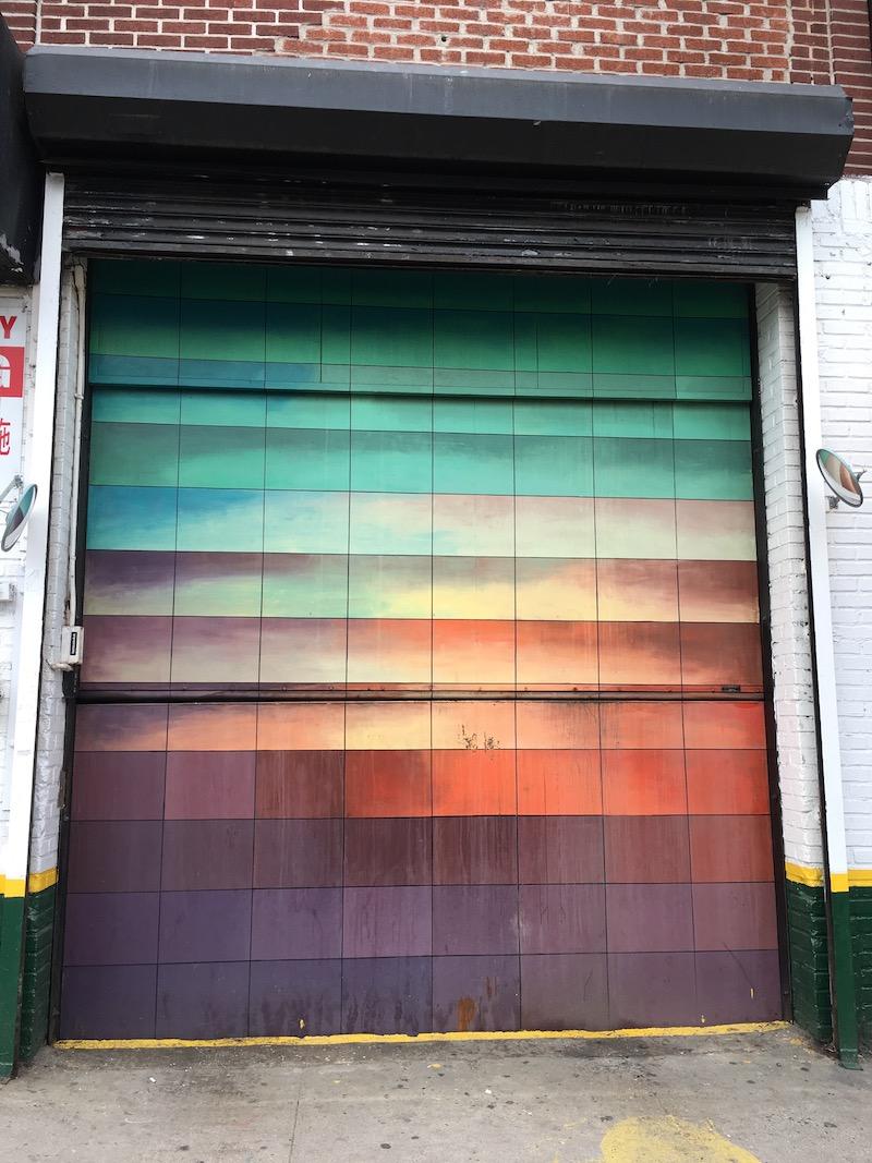 Street art on garage door in LES.