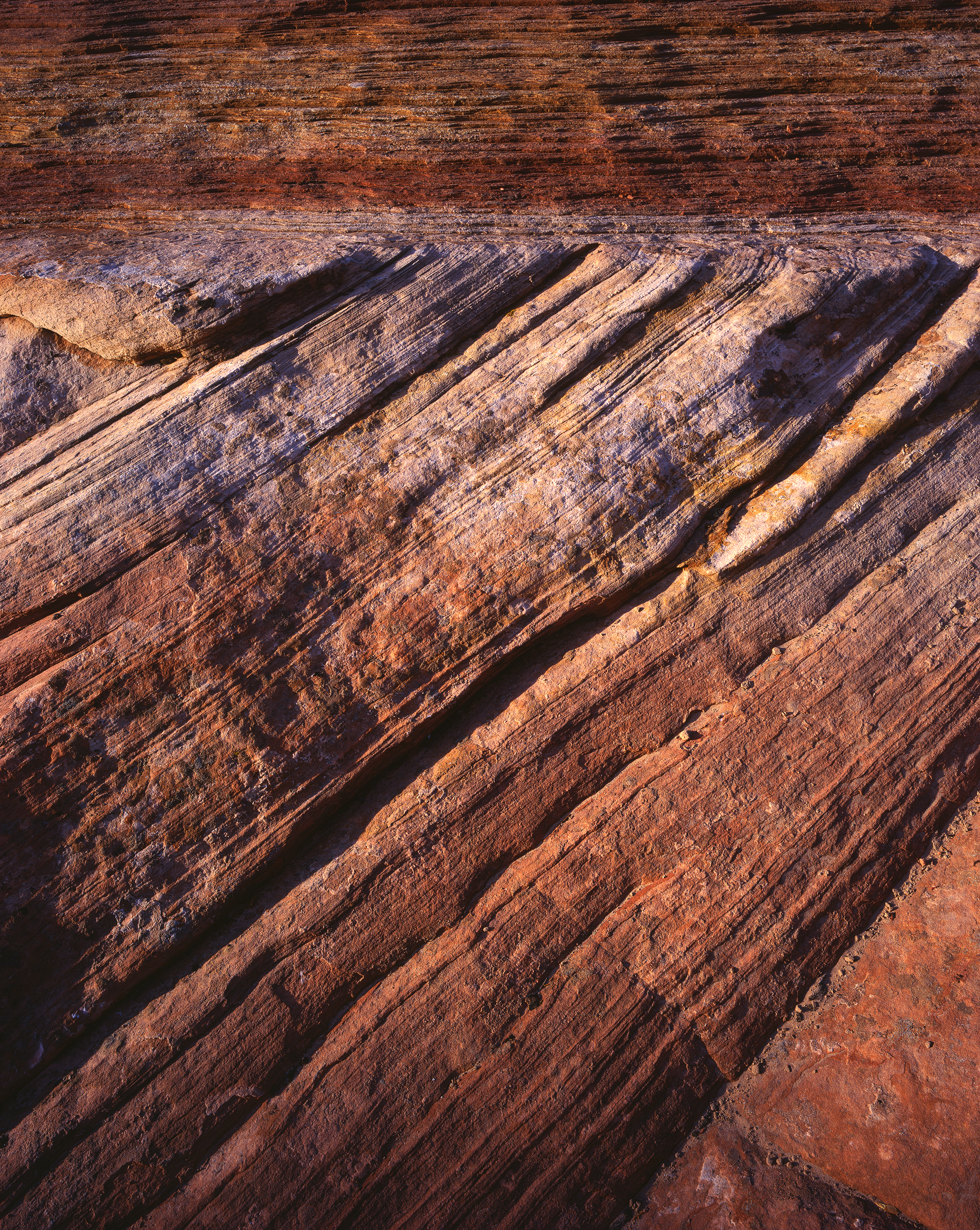 Sandstone Abstract. 4x5 Fuji Velvia 50, f/22, 1s