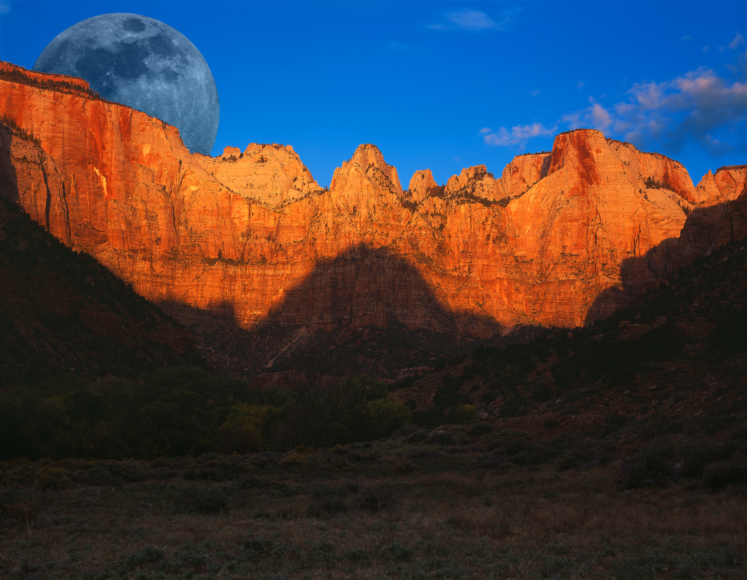 Moonrise Over the Towers. Single shot. Peter Lik Filter applied in camera...