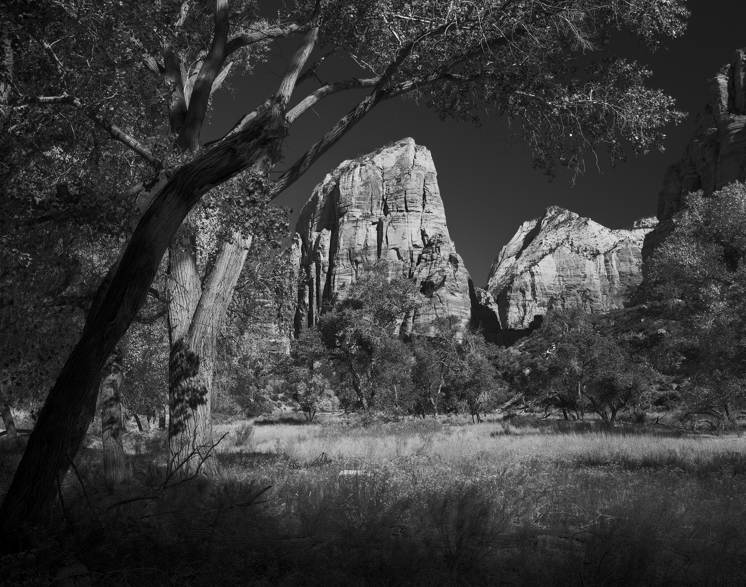 """Where Angels Tread"" 4x5 Ilford Delta 100, 90mm, f/45, 1/8s, red filter"