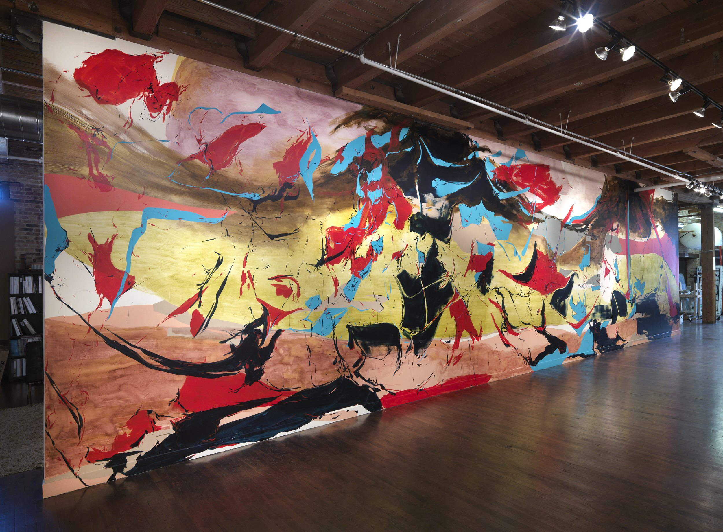 Tide Tango Onsite Wall Painting, 2014 (13' x 43')